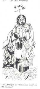"""El """"superufólogo"""". Por Allan Hendry (En The Ufo Handbook, por Allan Hendry, 1979)"""
