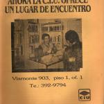CIU Lugar de encuentro 1988