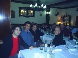 Zúñiga, Alfonso Ramírez, Agostinelli y Gámez durante el congreso que organizó Borgo en 2005.