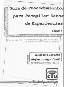 La guía del encuestador de la CIU elaborada por Heriberto Janosch y Alejandro Agostinelli (1988)