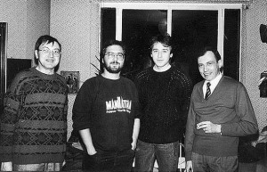 Scornaux, Agostinelli, Lagrange y Monnerie (1985). Foto: F. Janson