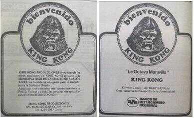 Bienvenido Kong a la Argentina